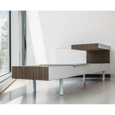 Hetherington Console Table Color: Gray