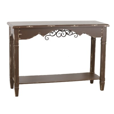 Azalea Traditional Farmhouse Console Table Color: Antique Walnut