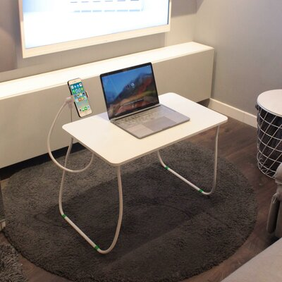 """Keesee 26"""" Height Adjustable Computer Table with Phone Holder and Wrist Rest Pad"""