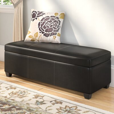 Boston Faux Leather Storage Bench Upholstery Color: Black