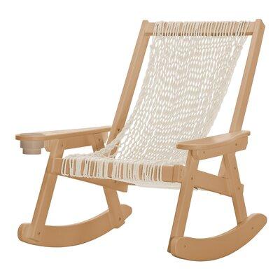 Coastal Duracorda Rocking Chair Fabric: Beige, Color: Cedar
