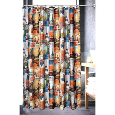 Eugene Bath Paris Collage Shower Curtain