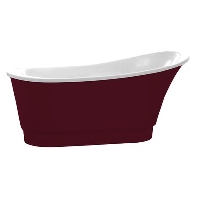 Prima Series 67'' x 31'' Freestanding Soaking Bathtub Color: Red