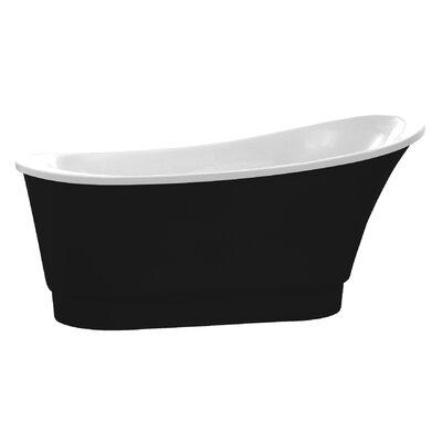 Prima Series 67'' x 31'' Freestanding Soaking Bathtub Color: Black