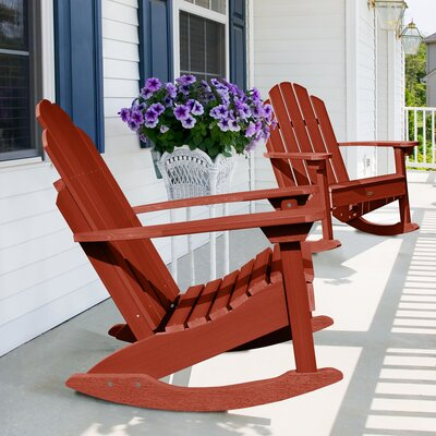 Highpoint Rocking Chair Color: Rustic Red