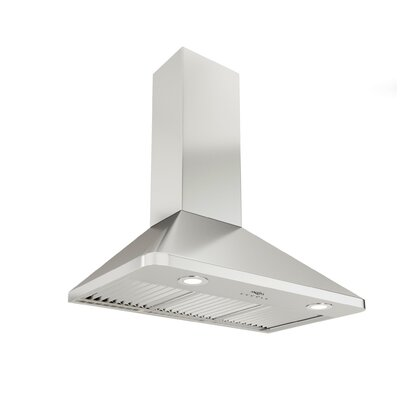 "36"" Rapido Chef Hidden 600 CFM Ducted Wall Mount Range Hood"