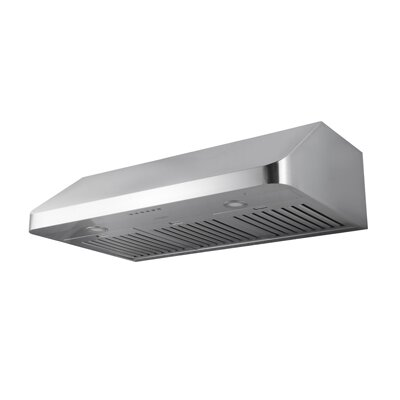 "36"" Turbo Chef Hidden 600 CFM Ducted Under Cabinet Range Hood"