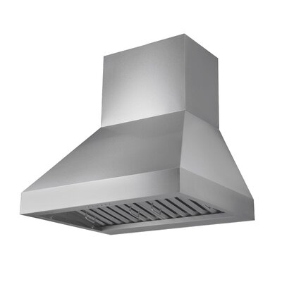 "30"" Wall Pyramid Rectangular Corners 600 CFM Ducted Wall Mount Range Hood"