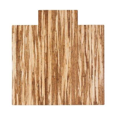 "Strand-Woven Bamboo Roll-Up Hard Floor Beveled Chair Mat Size: 55"" x 57"""