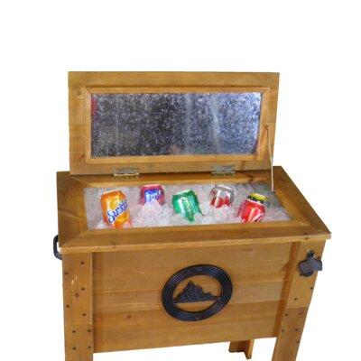 45 Qt. Decorative Outdoor Rustic Mountain Cooler