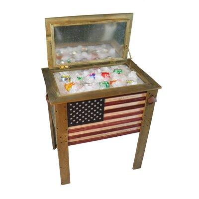 57 Qt. Decorative Outdoor American Flag Cooler