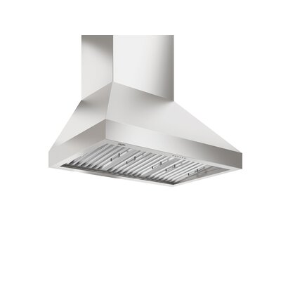 "36"" Turbo Wpro 1000 CFM Ducted Wall Mount Range Hood (Twin Motors)"