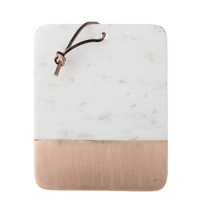 Siena Marble Cutting Board with Leather Strap