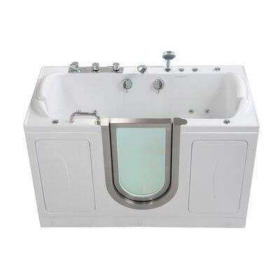 "Companion Acrylic 60"" x 30"" Walk-In Combination Bathtub Faucet: Fast Fill"