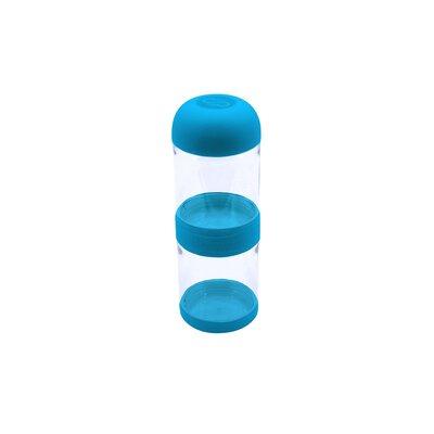 Kelley Tritan 2 Layer Snack 2.8 Cup Food Storage Container Color: Blue
