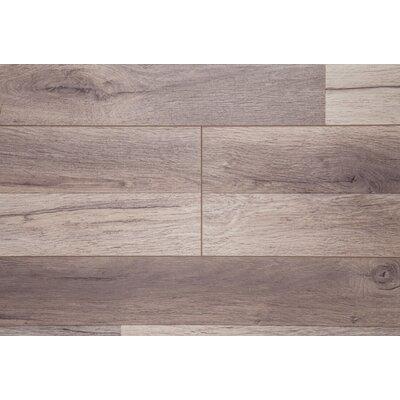 "Timeless 7"" x 72"" x 12mm Oak Laminate Flooring in Brown"