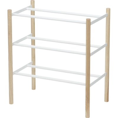 Expandable 16 Pair Shoe Rack Finish: White