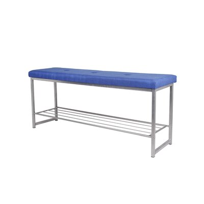 Orvis Leather Bedroom Storage Bench Upholstery: Blue, Color: Light Gray
