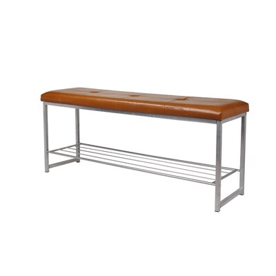 Orvis Leather Bedroom Storage Bench Upholstery: Brown, Color: Light Gray