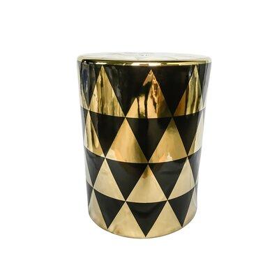 Ginsburg Stylish Garden Stool Color: Gold/Black