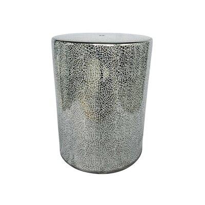 Royalwood Shiny Decorative Garden Stool Color: Silver