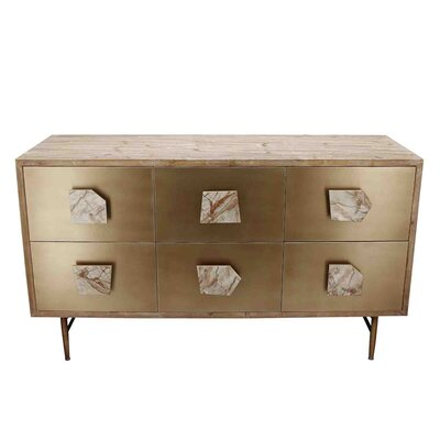 Frizzell Wooden 6 Drawers Accent Chest
