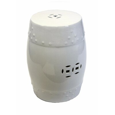 Cullars Fine Looking Ceramic Garden Stool Color: Off-White