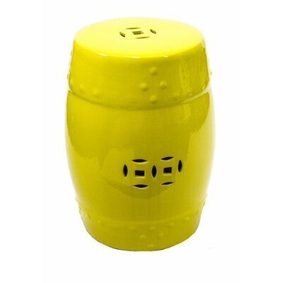 Cullars Fine Looking Ceramic Garden Stool Color: Lemon Yellow