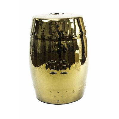 Cullars Fine Looking Ceramic Garden Stool Color: Gold