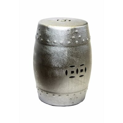 Cullars Fine Looking Ceramic Garden Stool Color: Silver