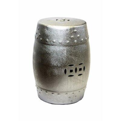 Cullars Fine Looking Ceramic Garden Stool Color: Silver