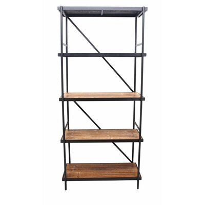 "72"" H x 49"" W Well Made Metal and Wood Shelving Unit"