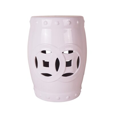 Whitted Cutout Garden Stool Color: White