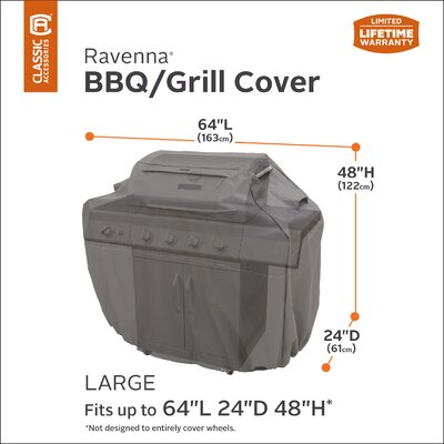 """Ravenna Grill Cover - Fits up to 22.5"""" Size: 49"""" H x 22.5"""" W x 65"""" D"""