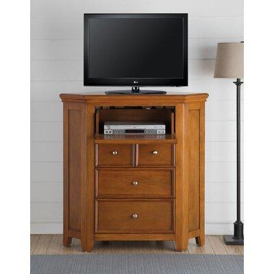 "Didmarton Corner 42"" TV Stand Color: Cherry Oak"