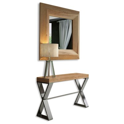 "Saybrook Console Table and Mirror Set Size: 31.5"" H x 47"" W x 15.6"" D"