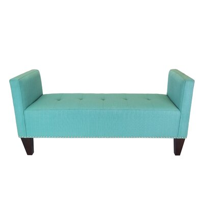 Hisle Upholstered Bench Upholstery: Lagoon