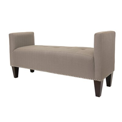 Hisle Upholstered Bench Upholstery: Dolphin