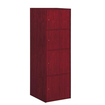 Noell 4 Door Accent Cabinet Color: Mahogany