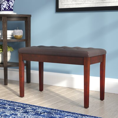 Criss Piano Upholstered Storage Bench Color: Brown