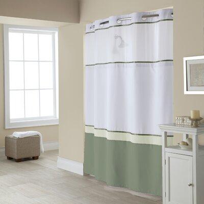 Hebrides Shower Curtain Color: Green