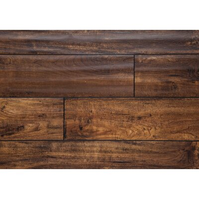 "Harvest 5"" x 48"" x 12mm Oak Laminate Flooring in Gold"