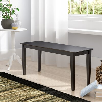 Allwood Wood Bench Color: Black