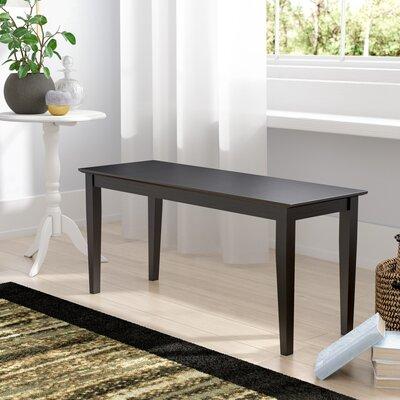 Allwood Wood Bench Color: Black
