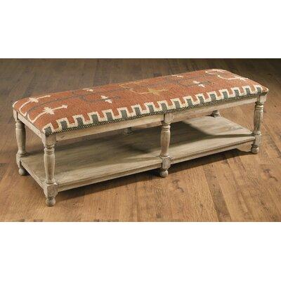 Rainville Wood Bench Color: Light Brown
