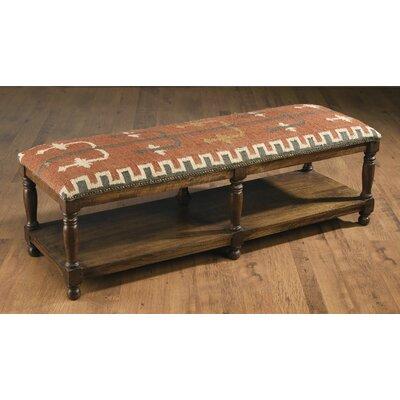 Rainville Wood Bench Color: Dark Brown