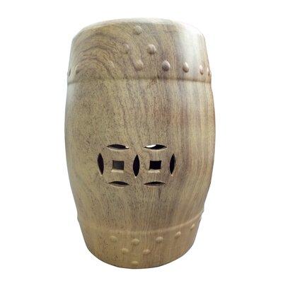 Palafox Ceramic Garden Stool Color: Brown