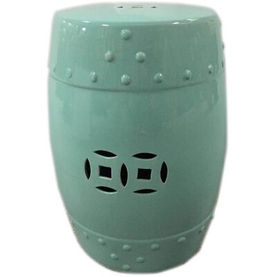 Palafox Ceramic Garden Stool Color: Green