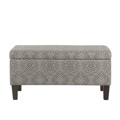 Fetterman Global Pattern Upholstered Storage Bench