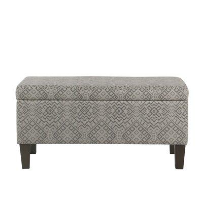 Fetterman Global Pattern Upholstered Storage Bench